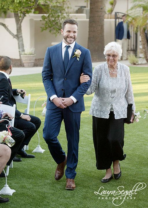groom with grandma
