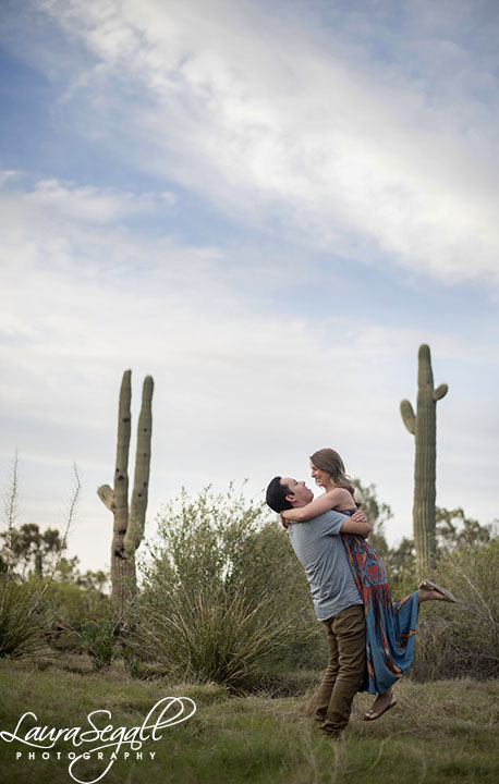 Desert Botanical Garden engagement session pictures