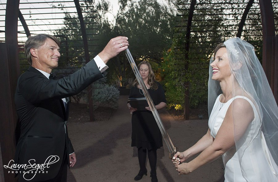Desert Botanical Garden wedding Steele Herb Garden