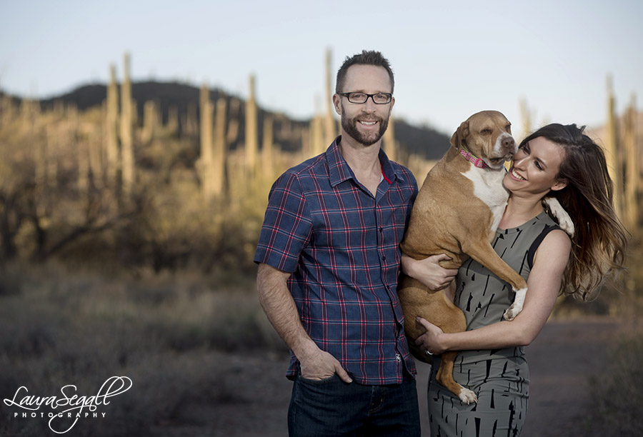 Arizona desert engagement session