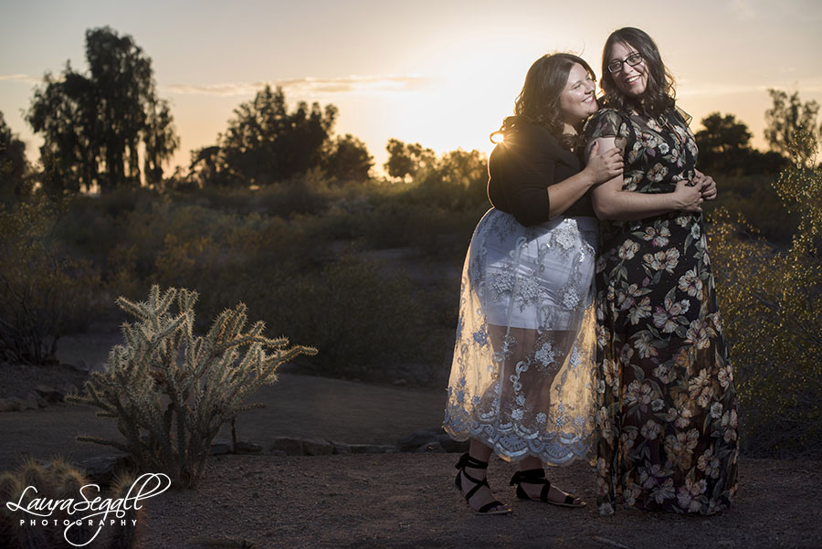 Phoenix desert engagement session pictures
