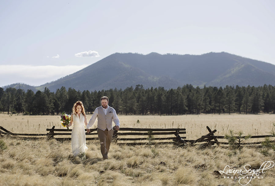 Flagstaff wedding in the woods