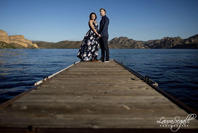 Saguaro Lake engagement session