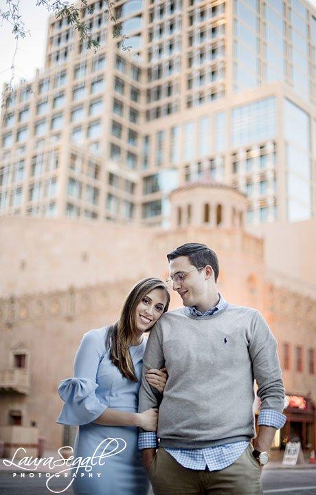 Downtown Phoenix engagement portrait session