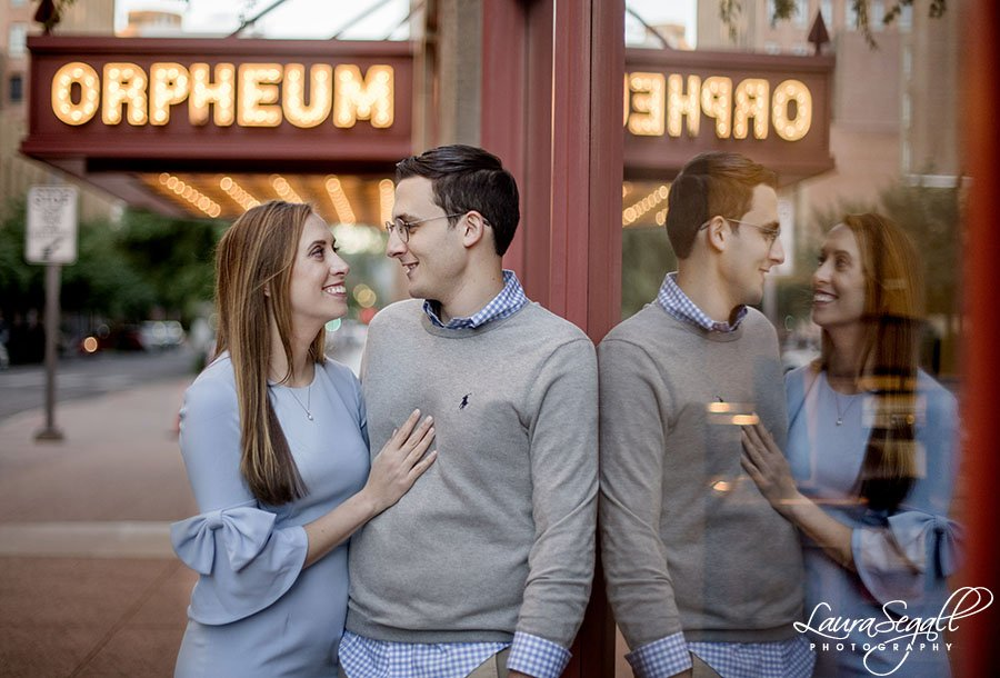 Downtown Phoenix engagement portrait session