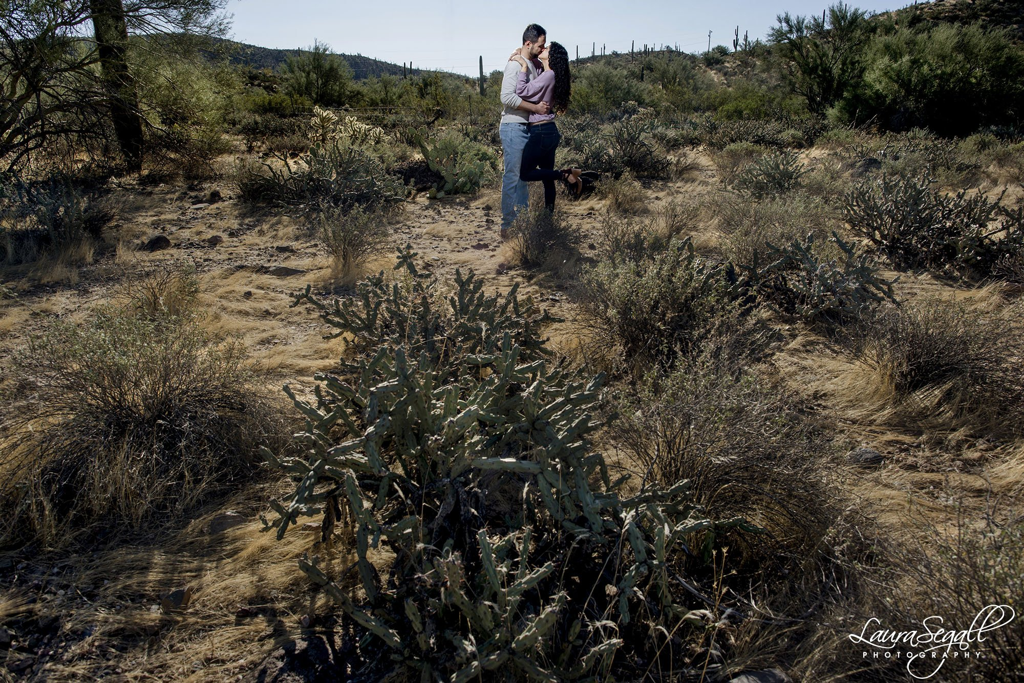 desert morning engagement